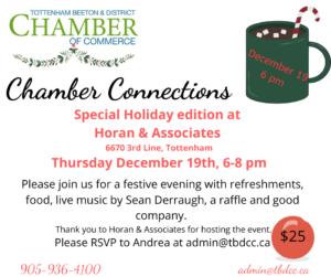 Chamber Connections - Holiday Edition @ Horan & Associates   New Tecumseth   Ontario   Canada