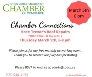 Chamber Connections @ TBDCC Office | New Tecumseth | Ontario | Canada
